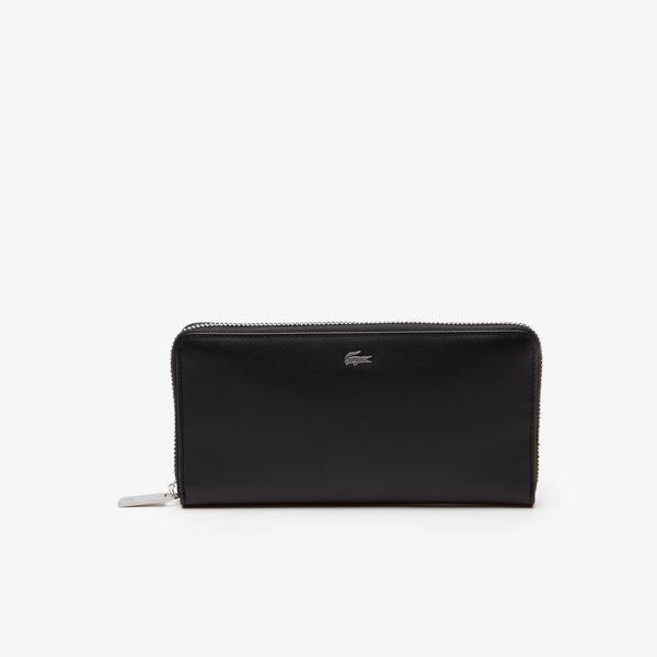 Lacoste Men's Fitzgerald Leather 16 Card Zip Wallet