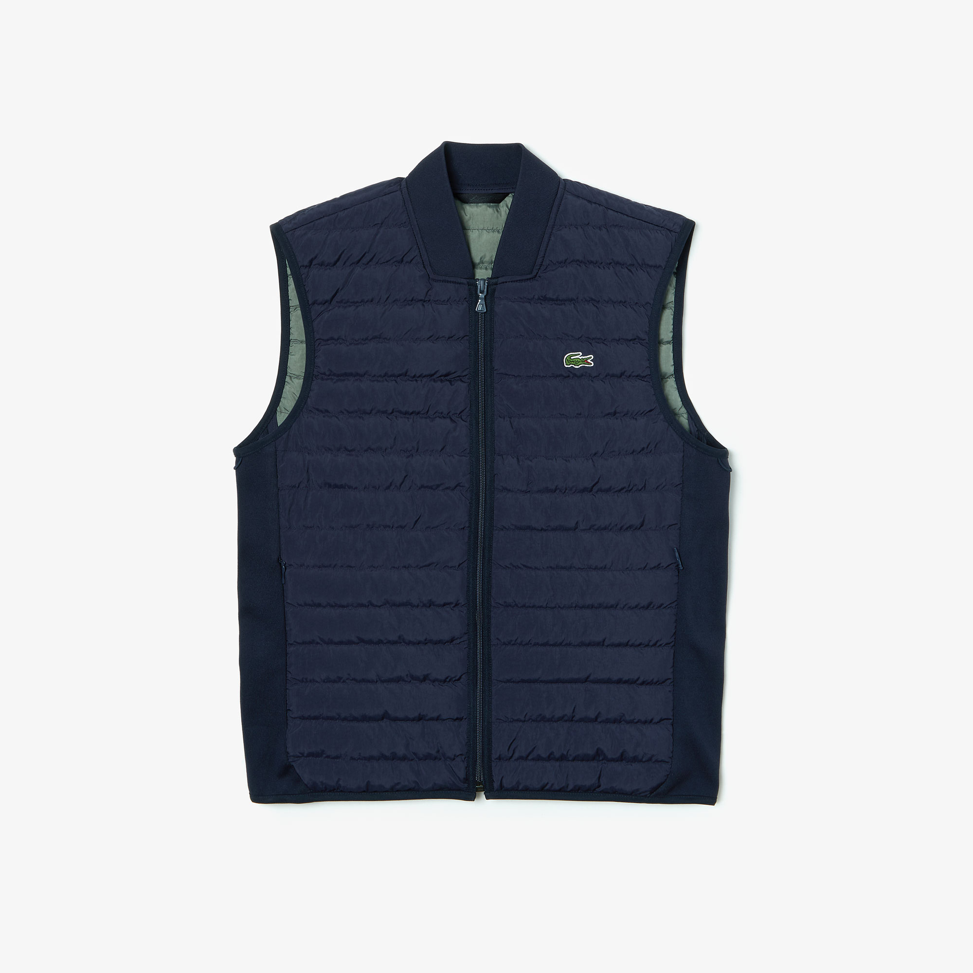 Lacoste Men's Combinable Collapsible Lightweight Quilted Zip Vest