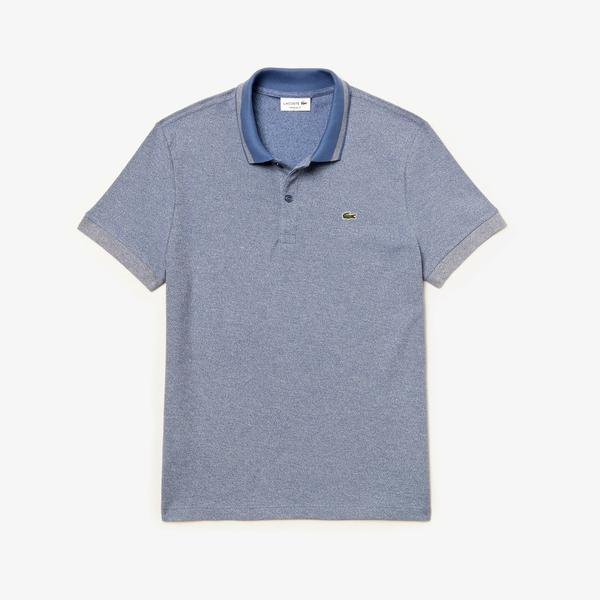 Lacoste Men's Regular Fit Heathered Piqué Polo Shirt