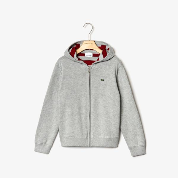 Lacoste Boys' Reversible Hooded Cotton Jacket
