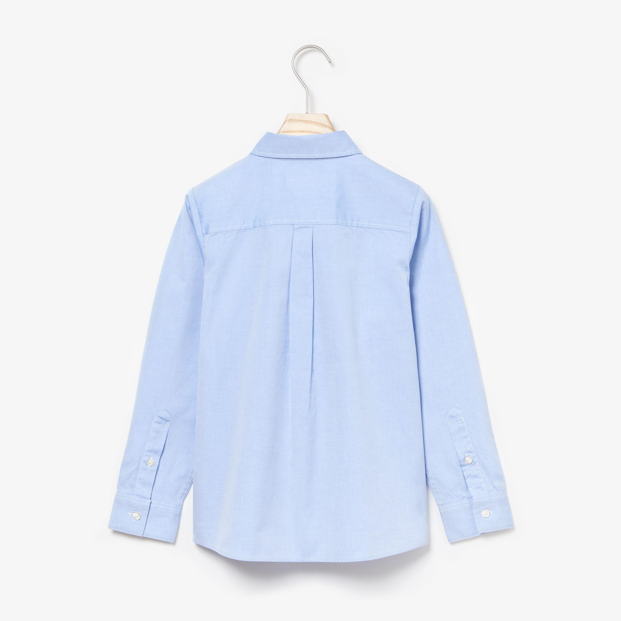 Lacoste Dziecięca tkana koszula z długim rękawem