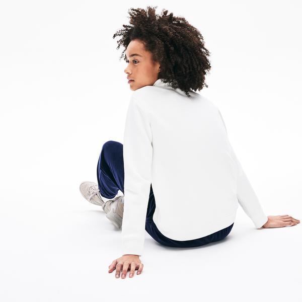 Lacoste Women's Adjustable Stand-Up Neck Herbal Print Sweatshirt