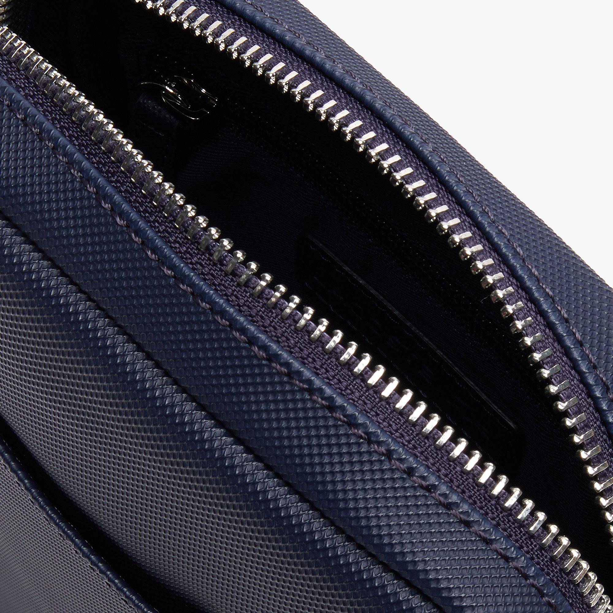 Lacoste Męska klasyczna pionowa torba na zamek błyskawiczny z drobnej piki