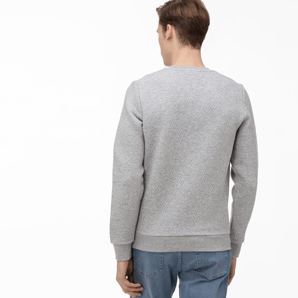 Lacoste Sweter Męski Pikowany Z Okrągłym Wycięciem Pod Szyją