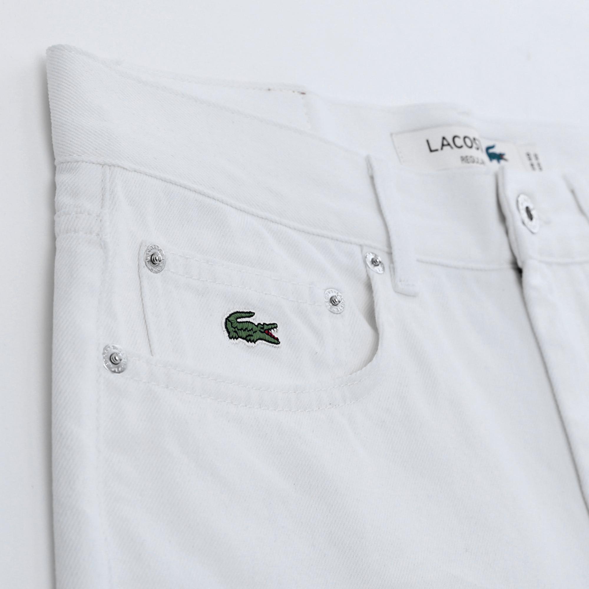 Lacoste Męskie Bermudy Jeansowe Regular Fit Z Pięcioma Kieszeniami