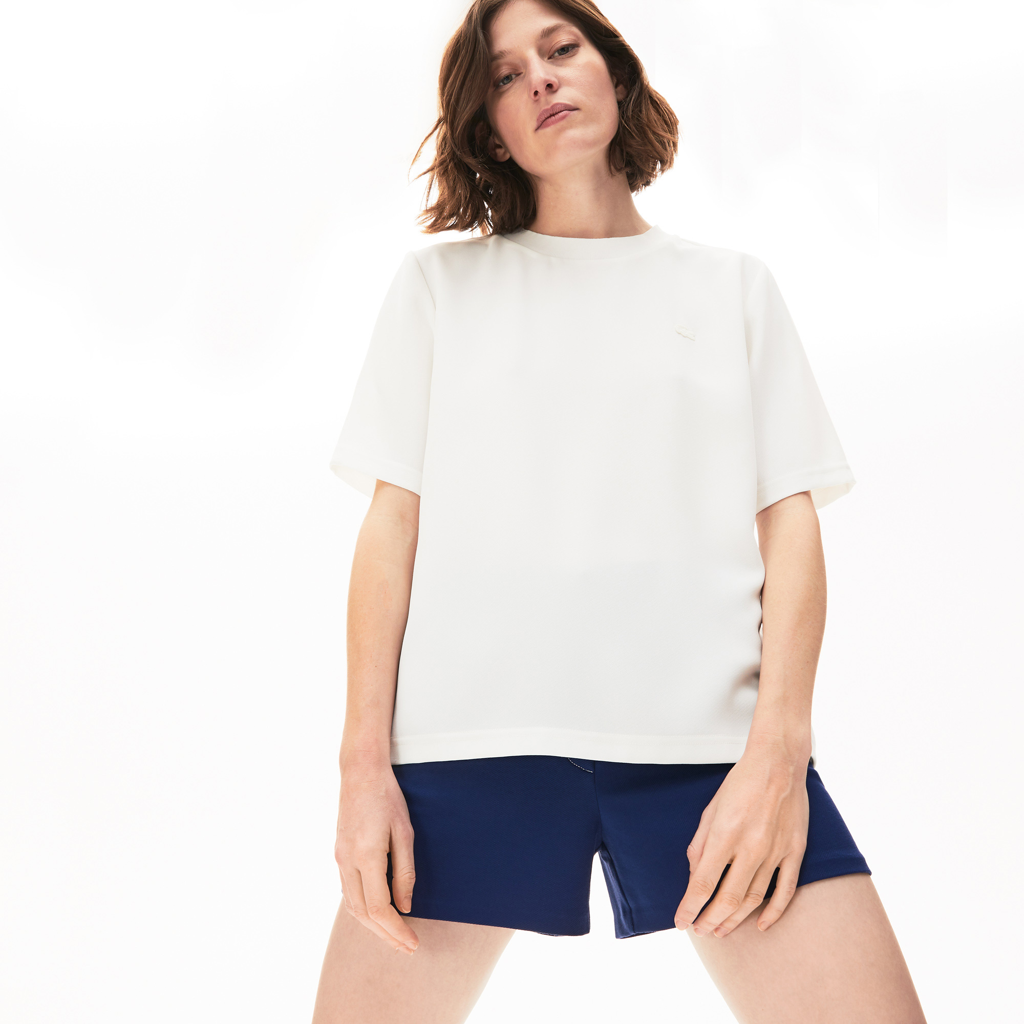 Lacoste Damski T-Shirt Z Diagonalu