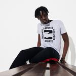 Lacoste Męski Sportowy T-Shirt Z Nadrukiem 3D