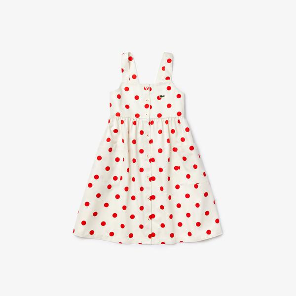 Lacoste Girls' Polka Dot Cotton Dress