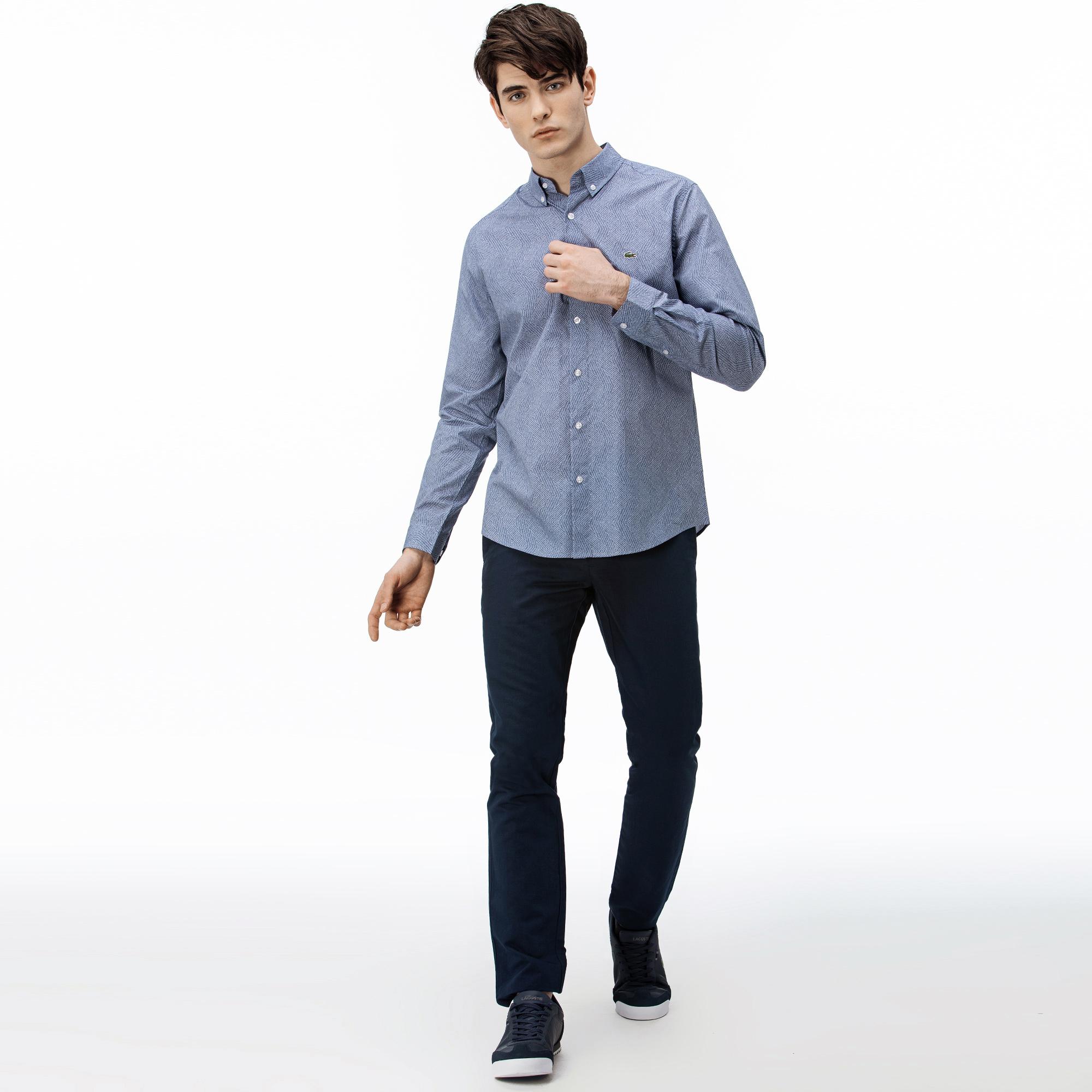 Lacoste Spodnie Męskie Slim Fit Białe