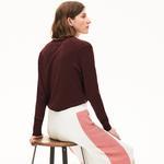 Lacoste Damski Sweter Z Jednokolorowej Bawełny Z Dekoltem W Kształcie Litery V