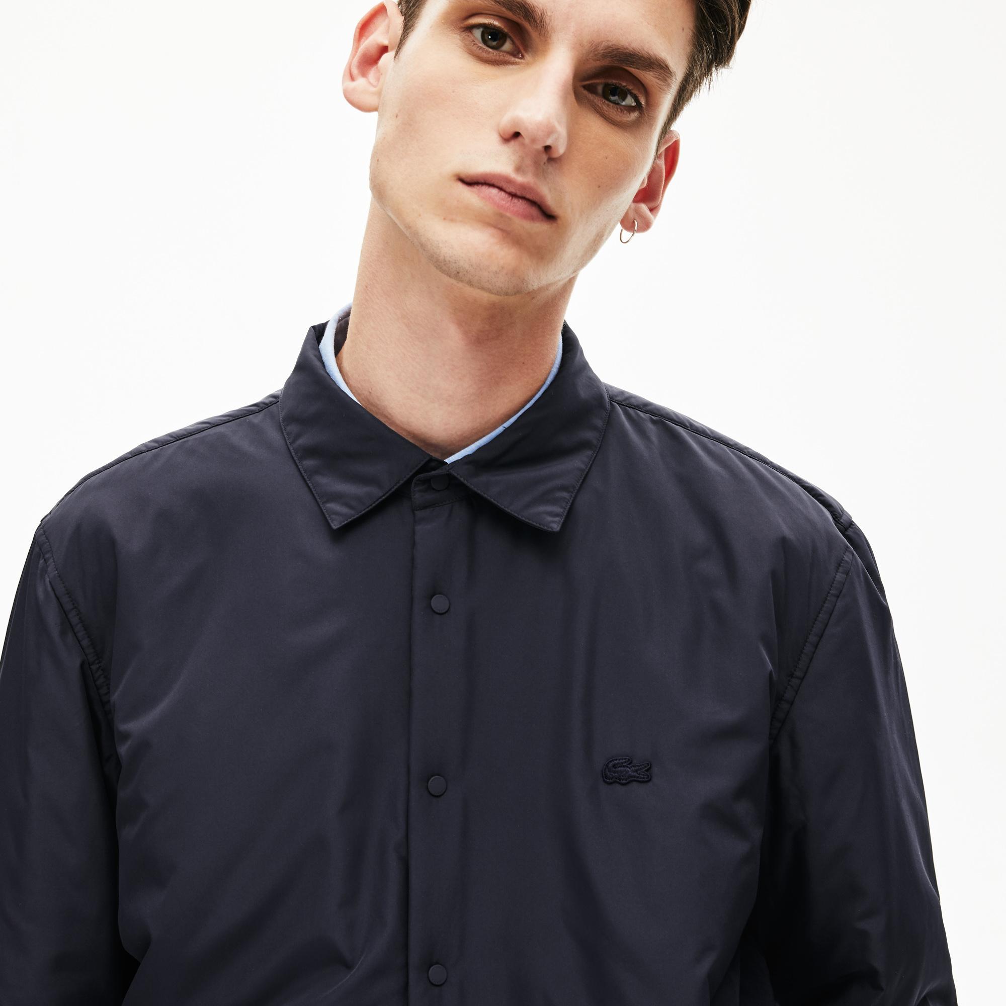 Lacoste Męska Jednokolorowa Koszula Wierzchnia Z Podszewką