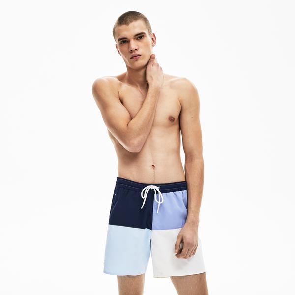 Lacoste Men's Colourblock Quick-Dry Swim Shorts