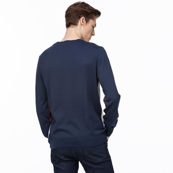 Lacoste Męski Trykotowy Sweter Z Okrągłym Wycięciem Pod Szyją