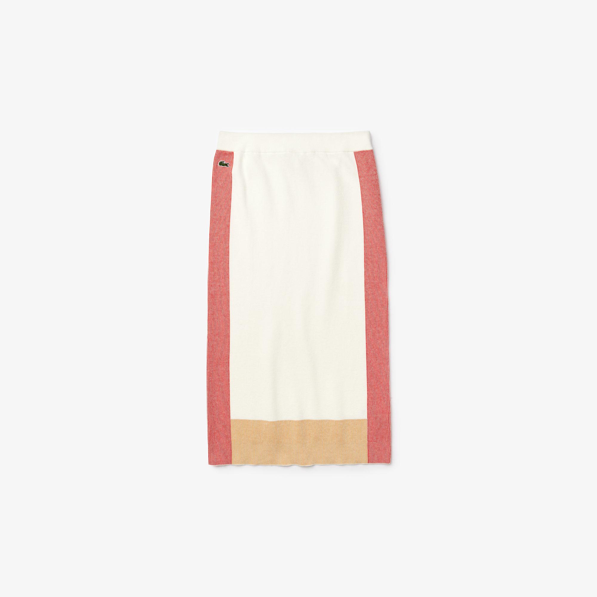 Lacoste Damska Ołówkowa Spódnica W Bloki Kolorystyczne