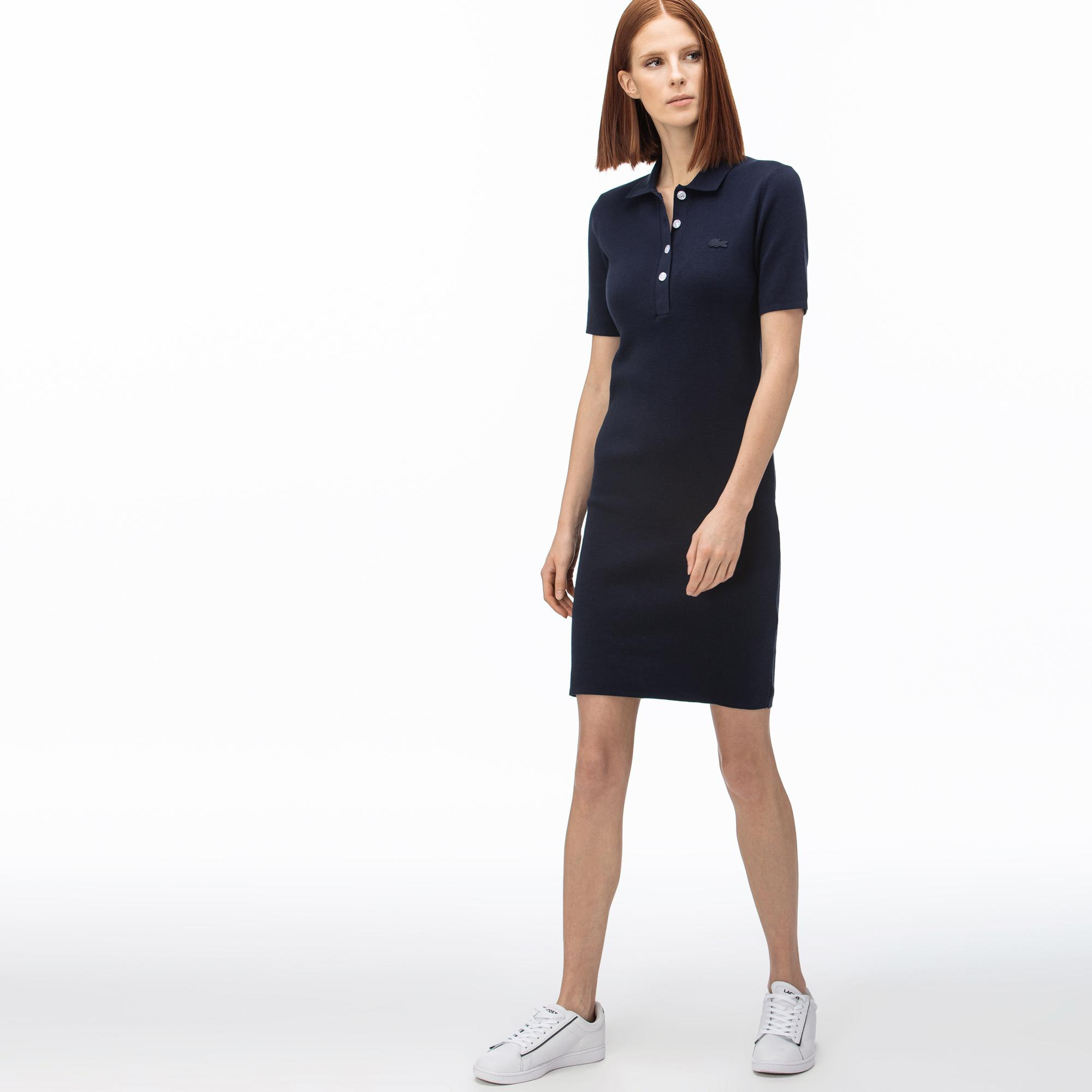 Lacoste Damska Dzianinowa Sukienka Polo