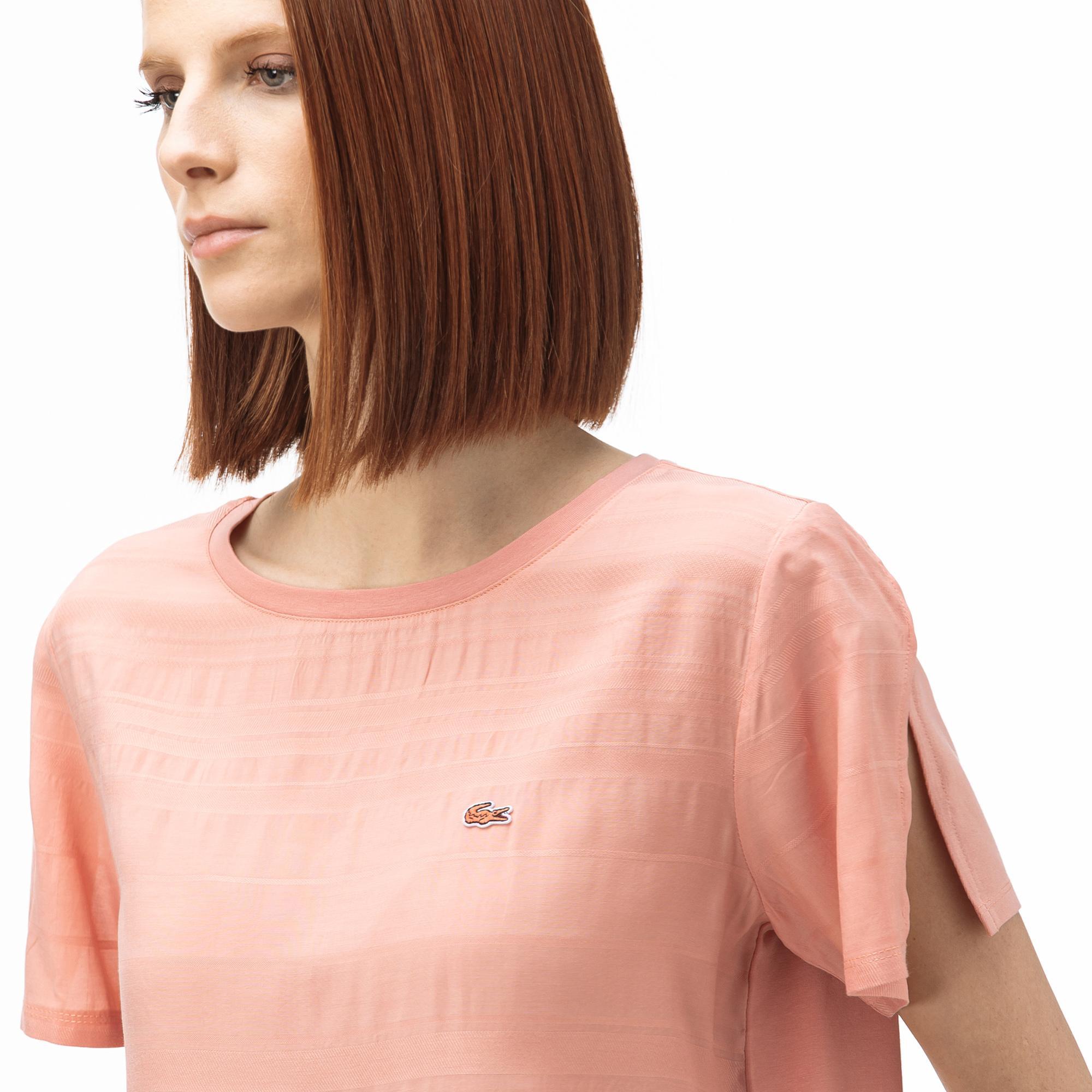 Lacoste T-Shirt Damski Z Dekoltem W Kształcie Łódki