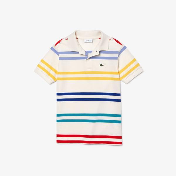 Lacoste Boy's Striped Coloured Polo