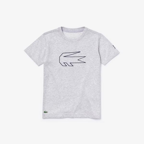 Lacoste Sport T-Shirt Dziecięcy Z Okrągłym Wycięciem Pod Szyją