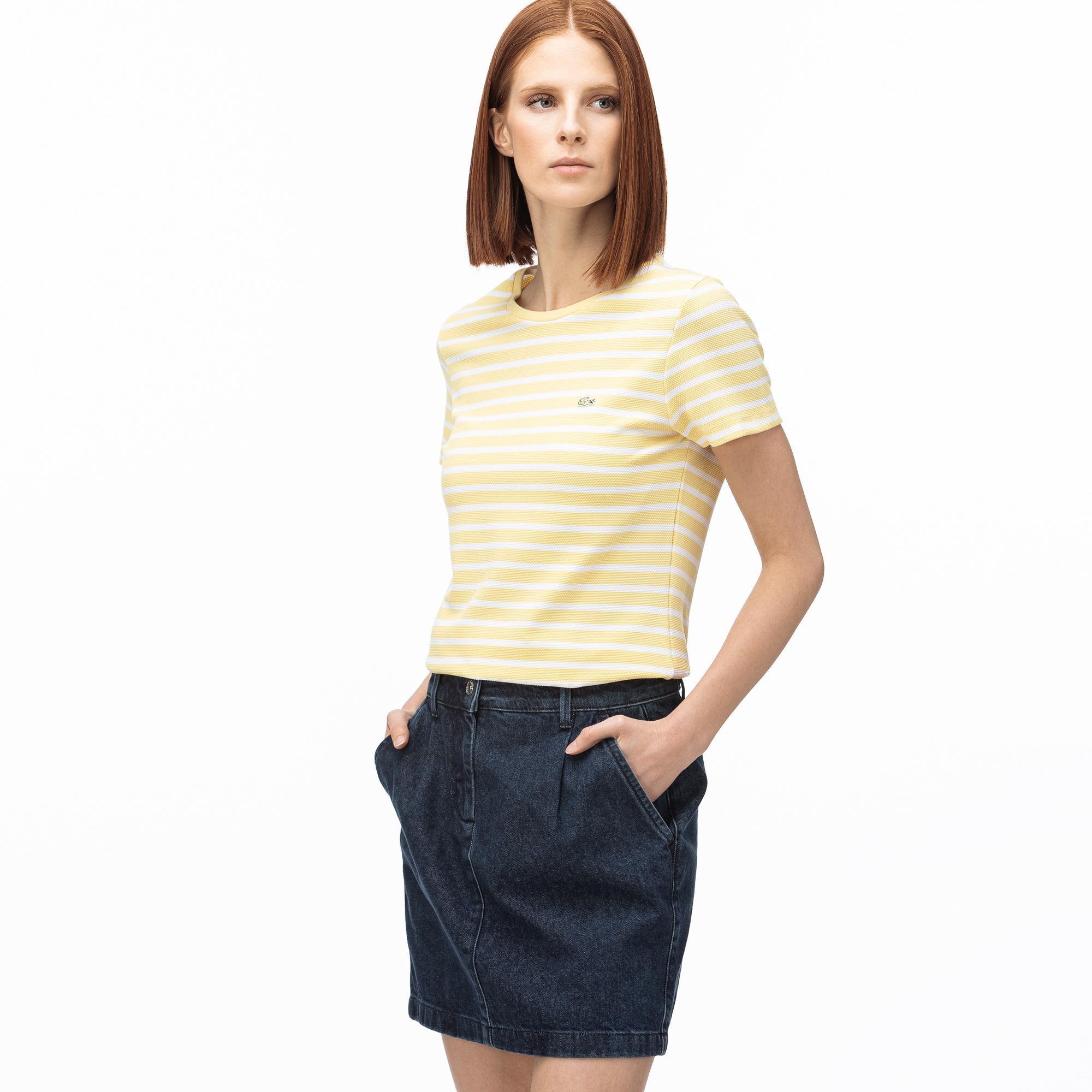 Lacoste T-Shirt Damski Z Okrągłym Wycięciem Pod Szyją