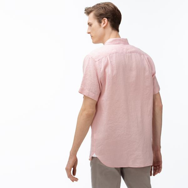 Lacoste Men's Regular Fit Linen Shirt