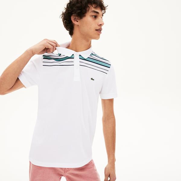 Lacoste Męska Koszulka Polo Ze Wstawką W Pasy