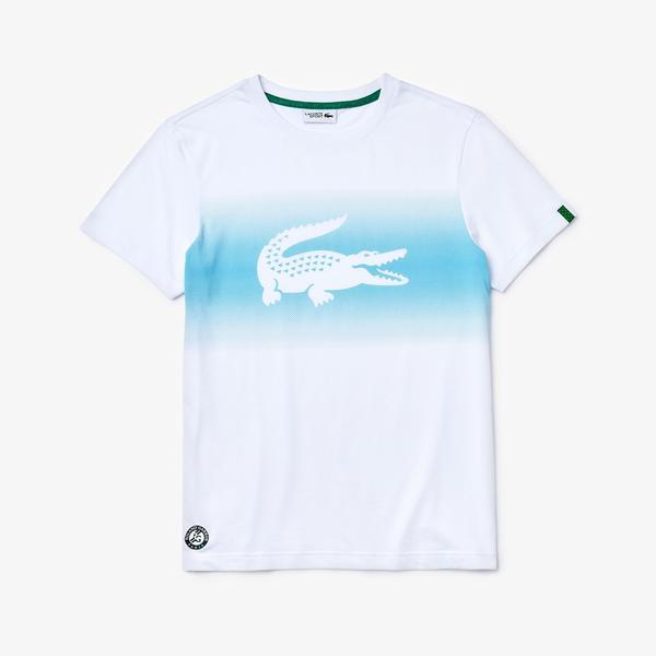 Lacoste Męski Sportowy T-Shirt Z Nadrukiem Krokodyla Roland Garros