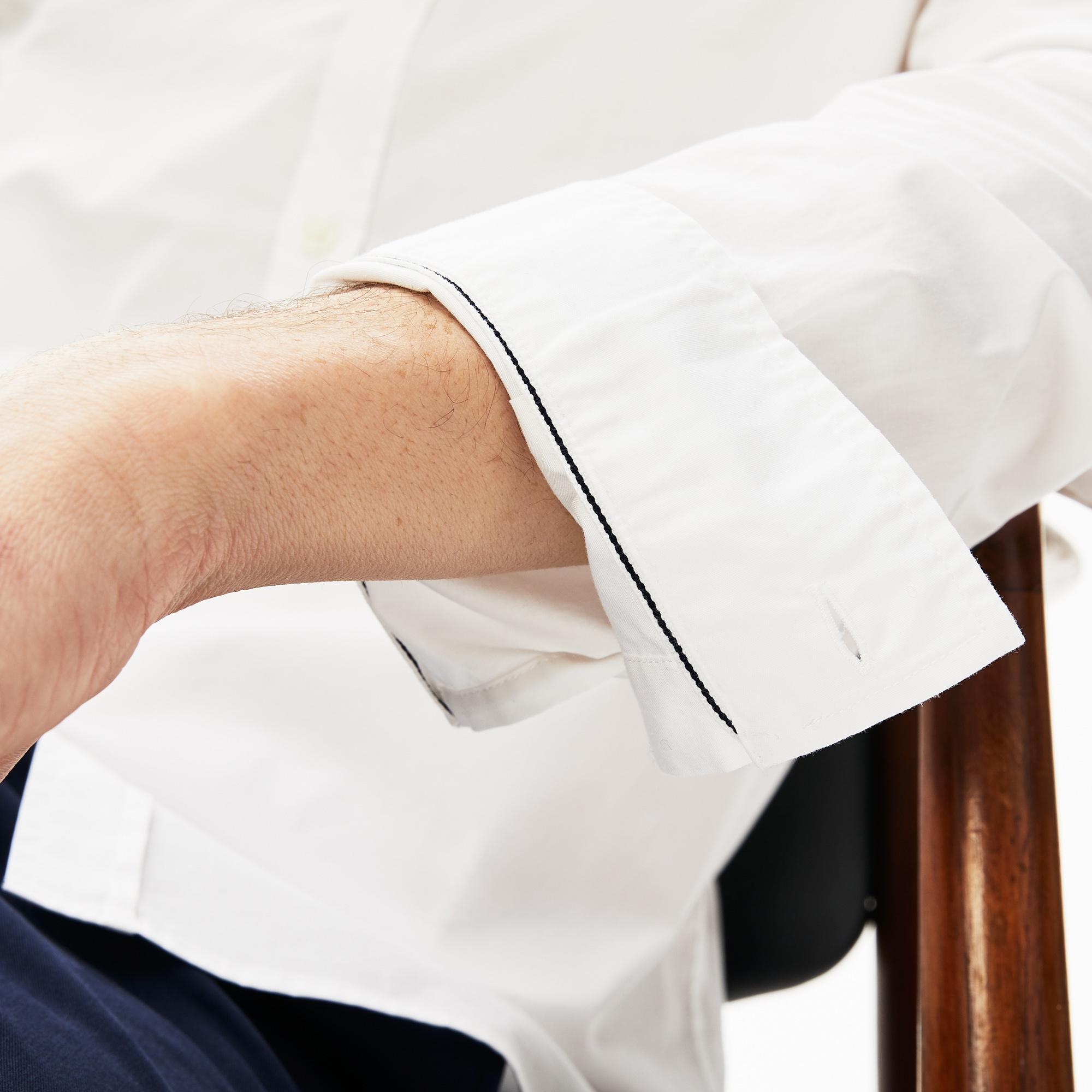 Lacoste Męska Koszula Z Delikatnej Popeliny Bawełnianej