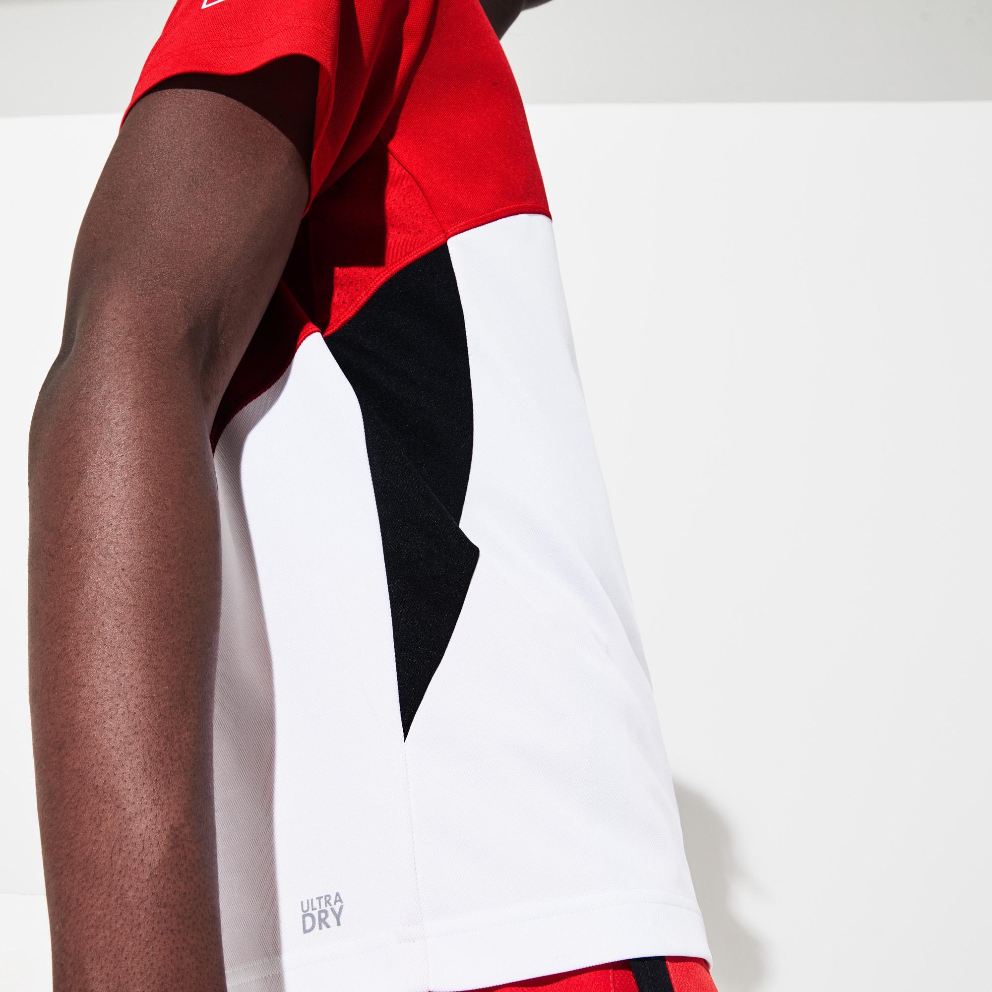 Lacoste Męska Koszulka Polo Z Zamkiem Błyskawicznym Do Gry W Tenisa Z Piki Ultra Dry