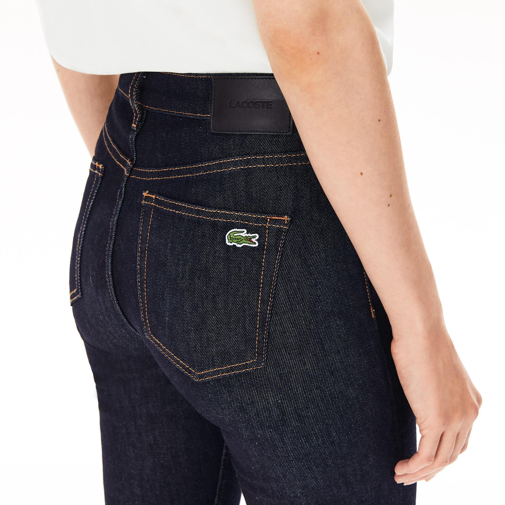 Lacoste Damskie Elastyczne Jeansy Skinny Z Bawełny