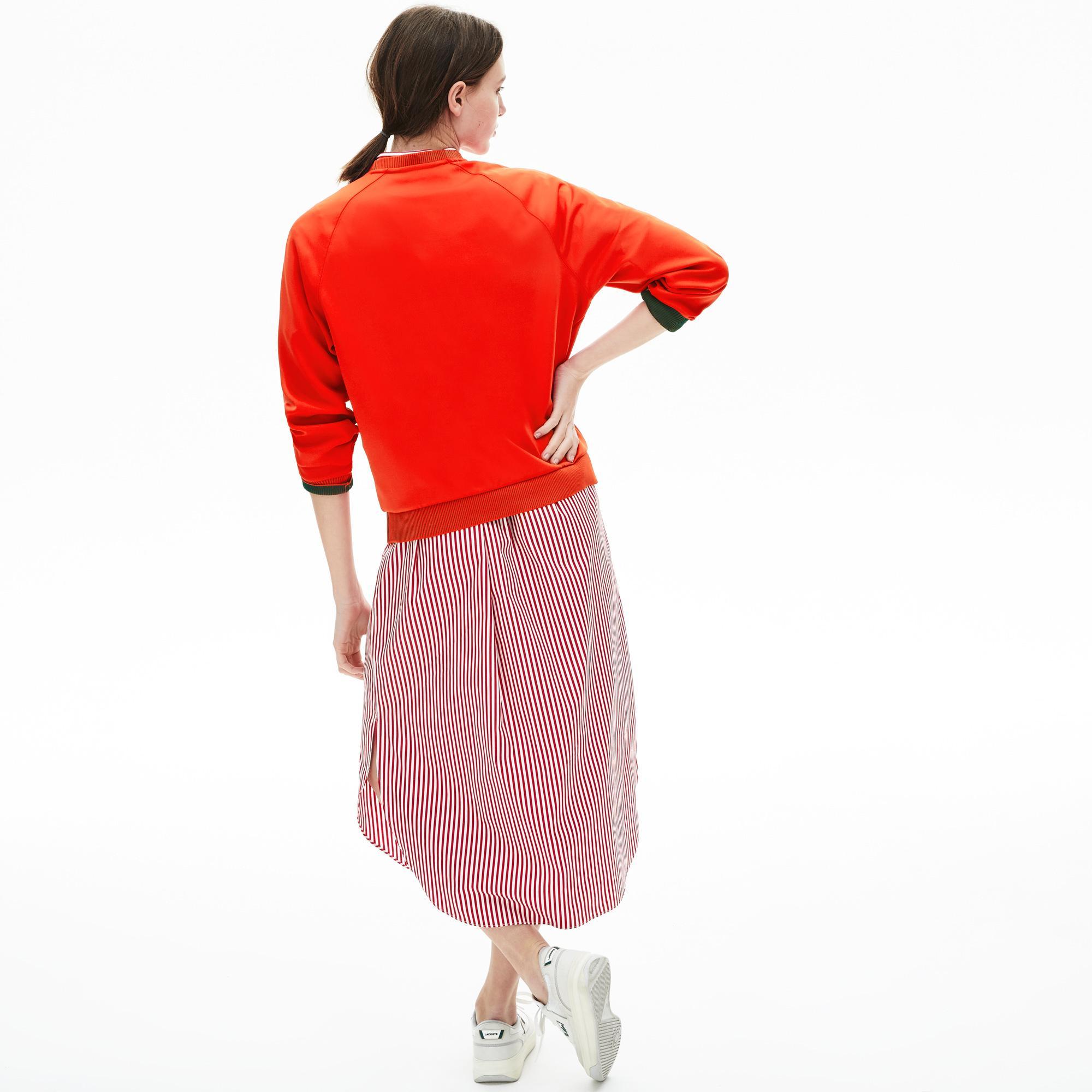 Lacoste Damska Klasyczna Bluza Z Okrągłym Dekoltem