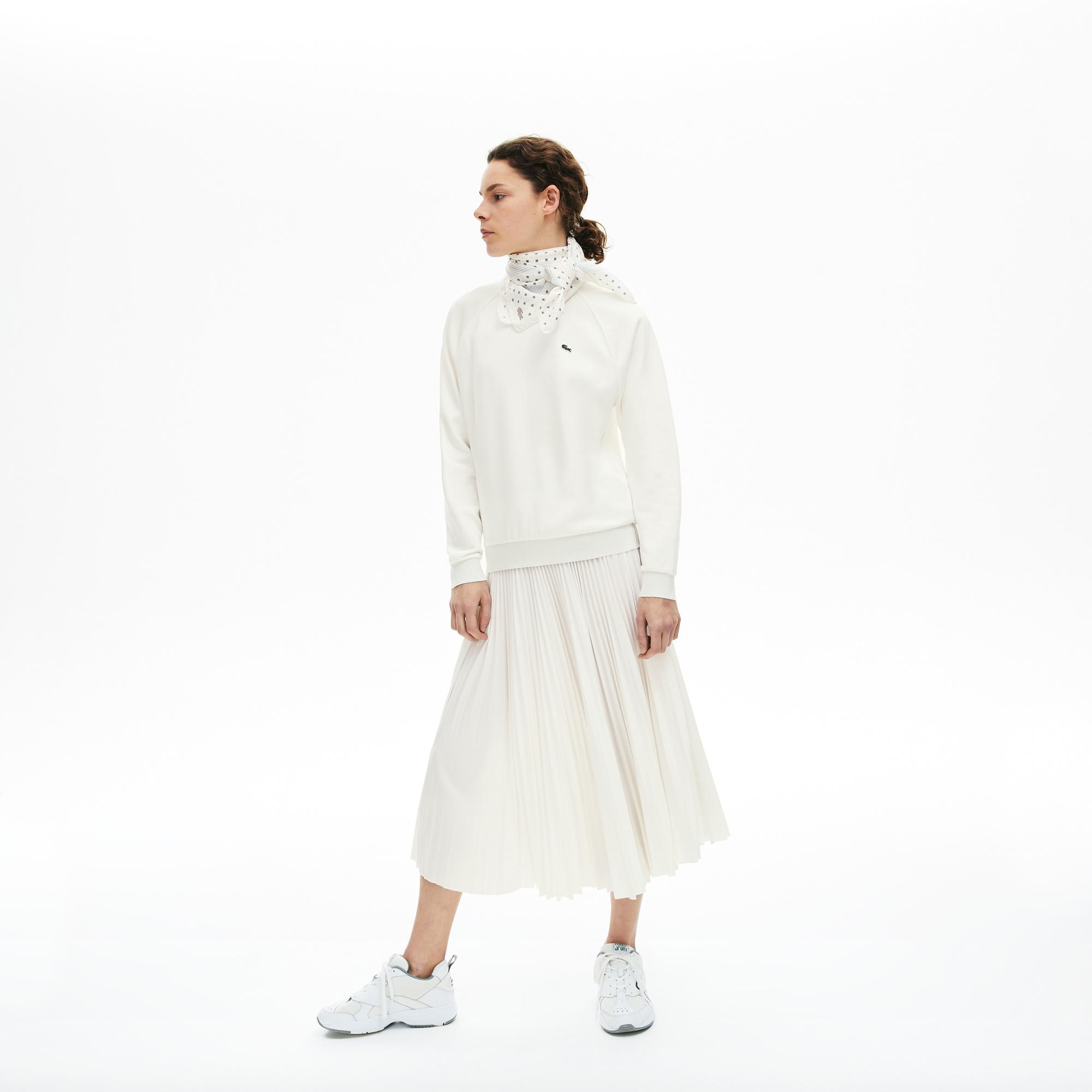 Lacoste Damska Klasyczna Polarowa Bluza Z Okrągłym Dekoltem