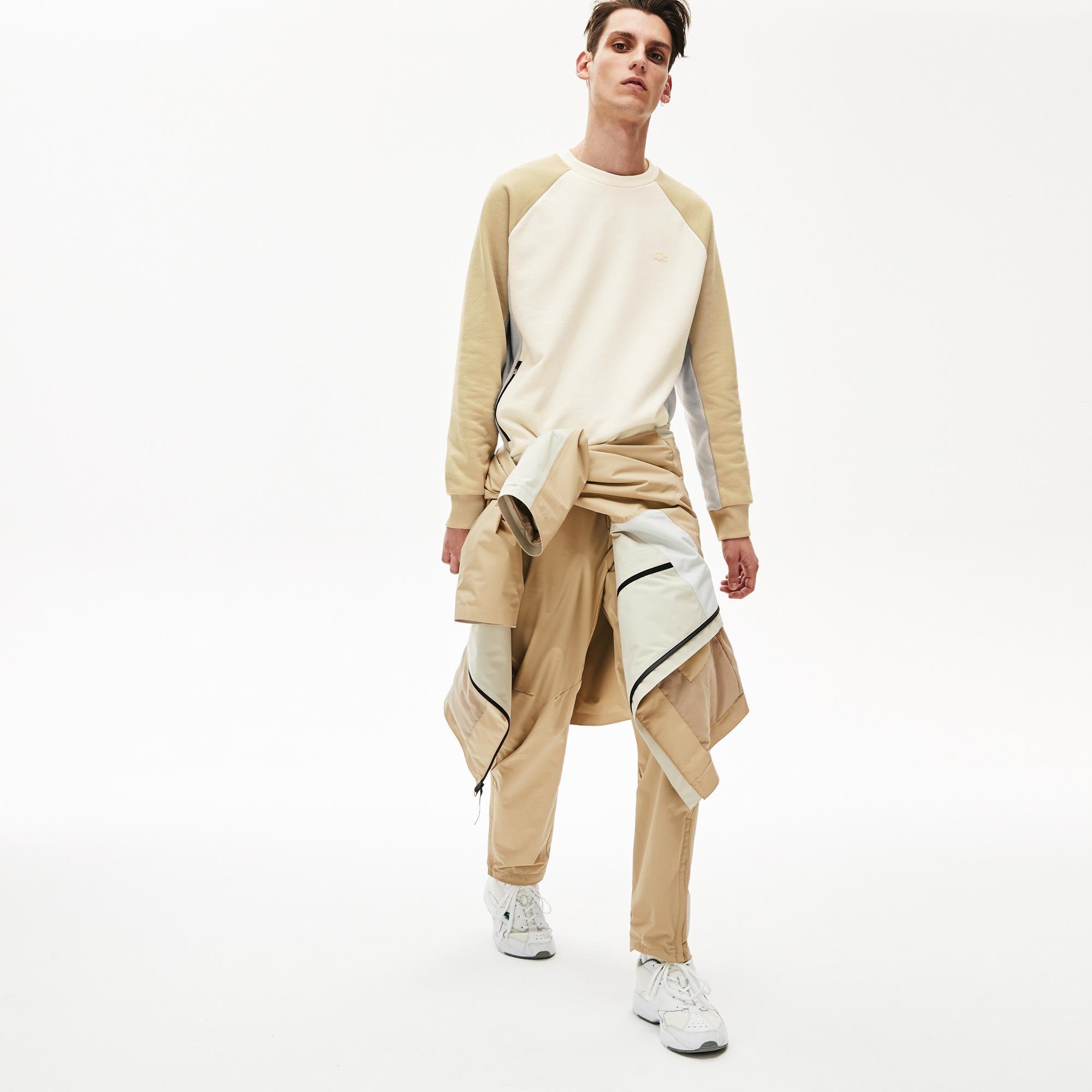 Lacoste Męska Bluza W Bloki Kolorystyczne Z Okrągłym Dekoltem Motion