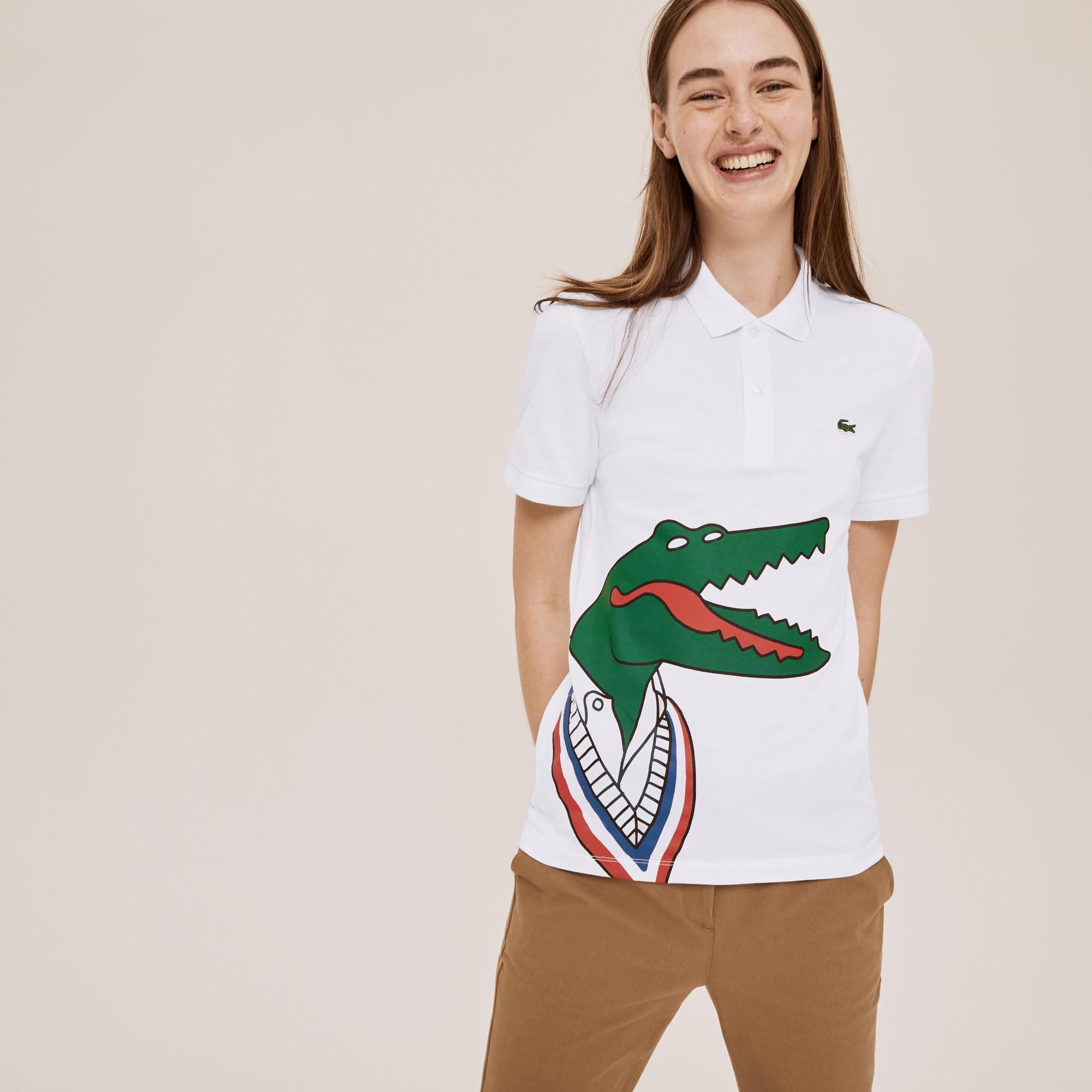 Lacoste Koszulka Polo x Jean-Michel Tixier Unisex Z Nadrukiem
