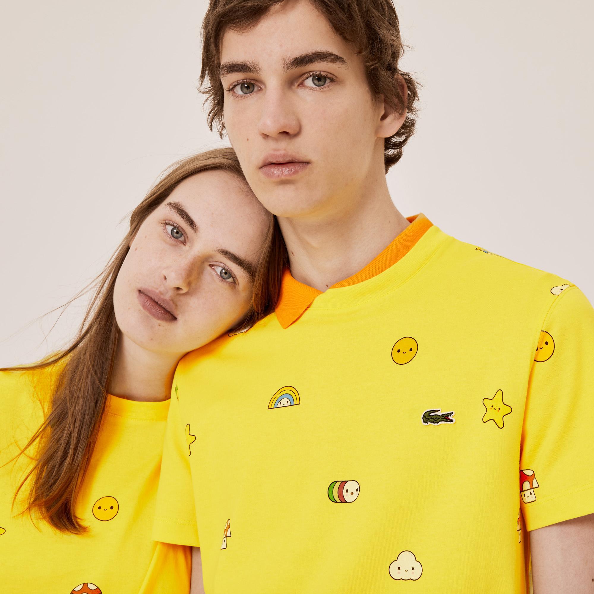 Lacoste T-Shirt x FriendsWithYou Unisex Z Okrągłym Wycięciem Pod Szyją