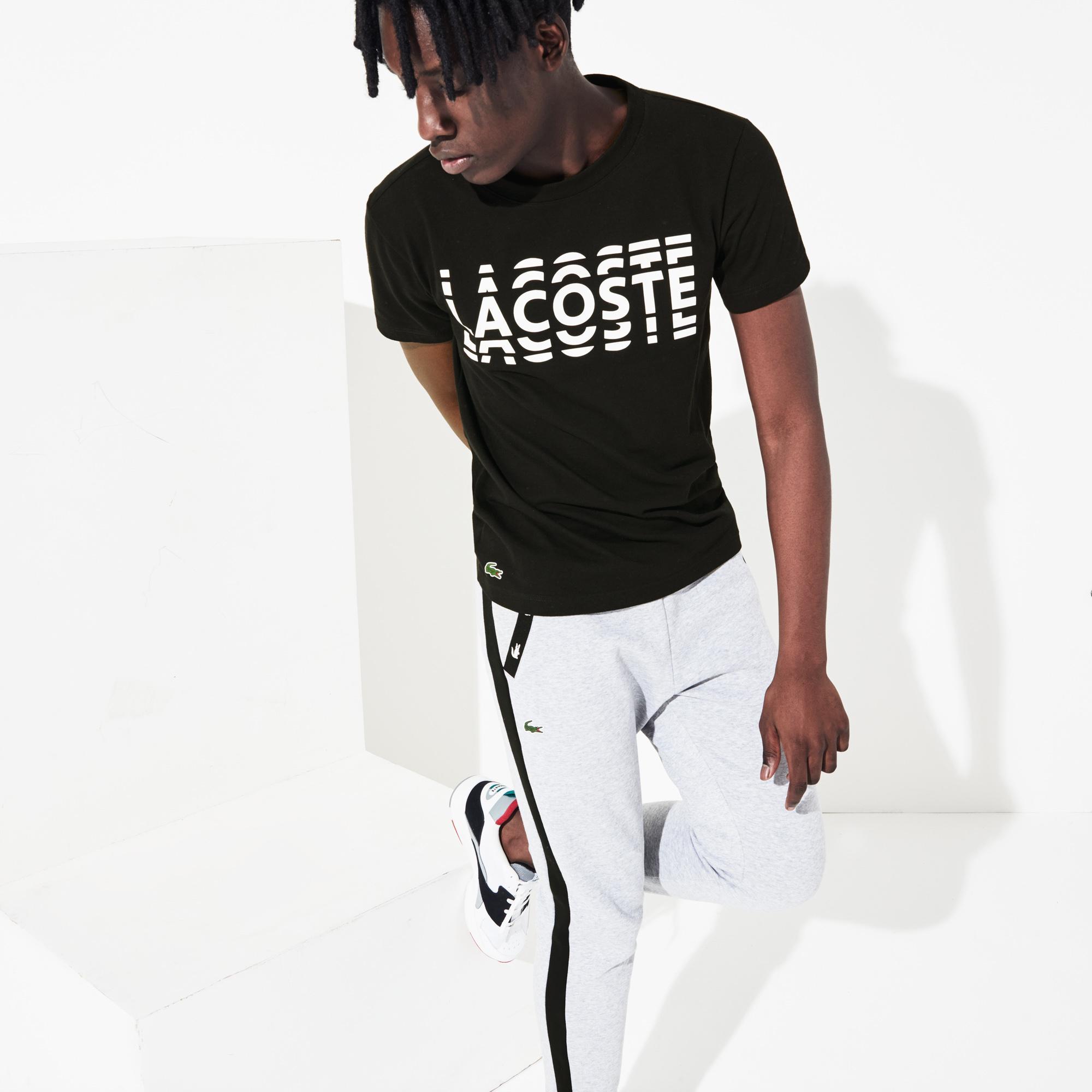 Lacoste Męski T-Shirt Z Nadrukiem Z Mieszanki Bawełnianej