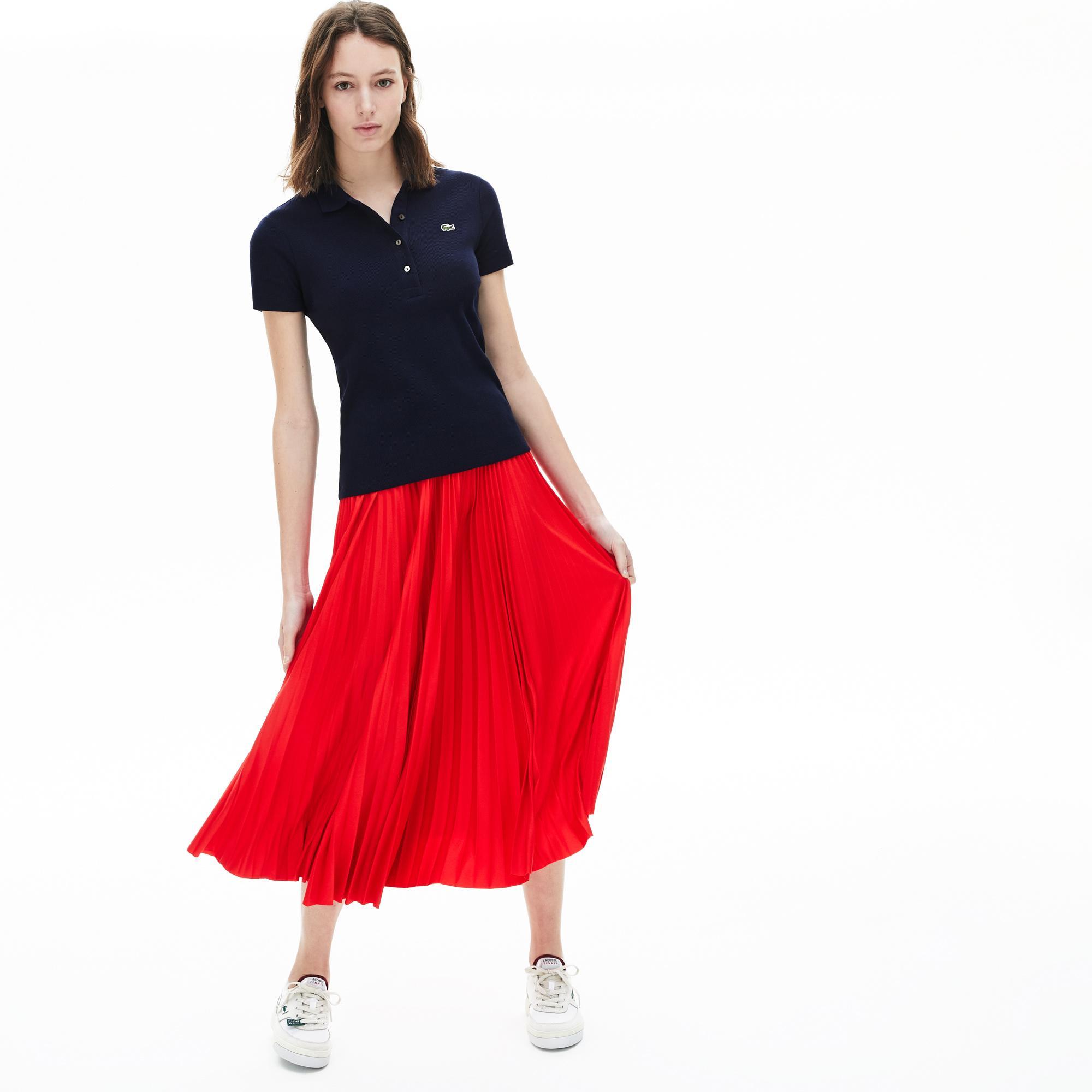 Lacoste Damska Koszulka Polo Z Prążka