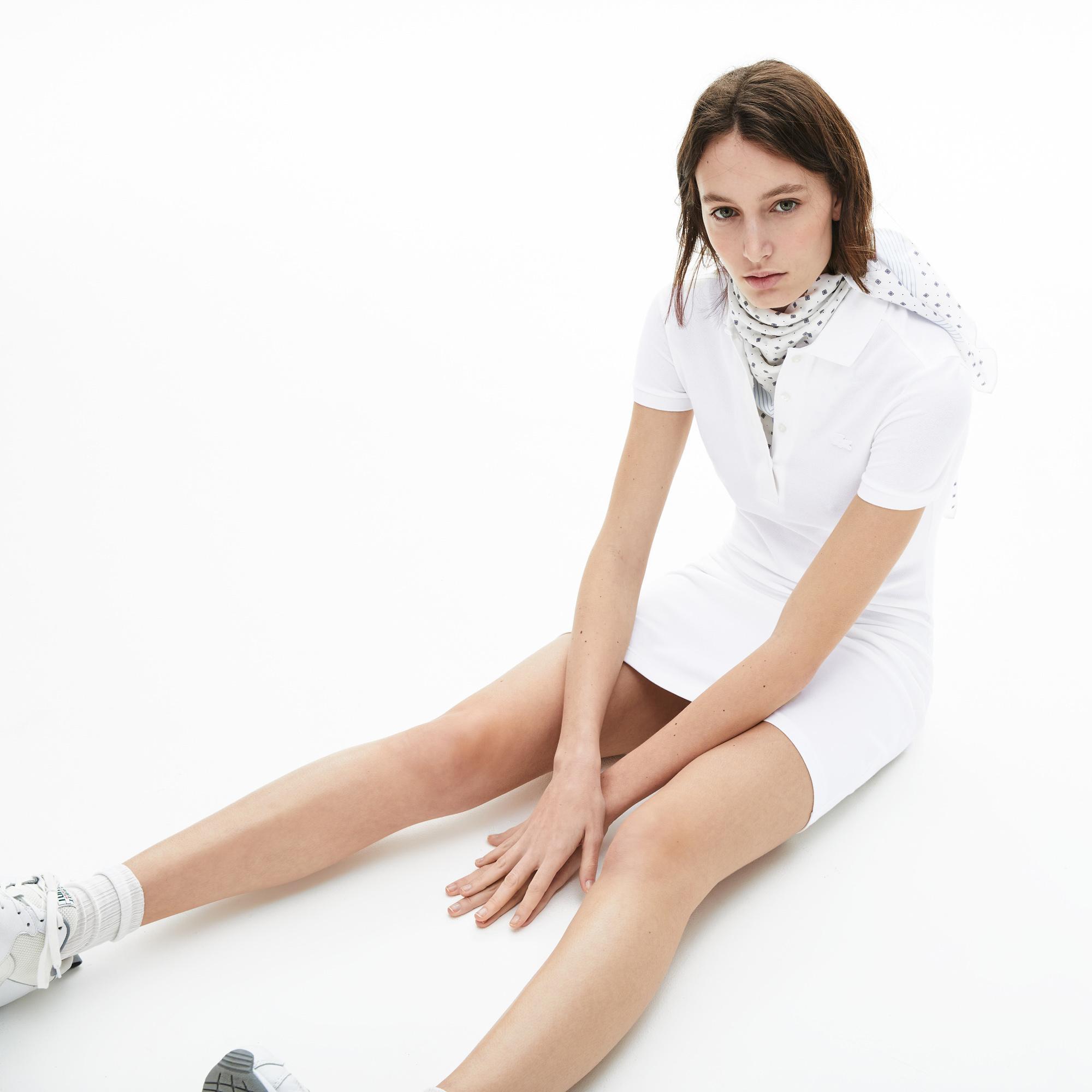 Lacoste Damska Sukienka Polo Z Elastycznej Bawełnianej Piki