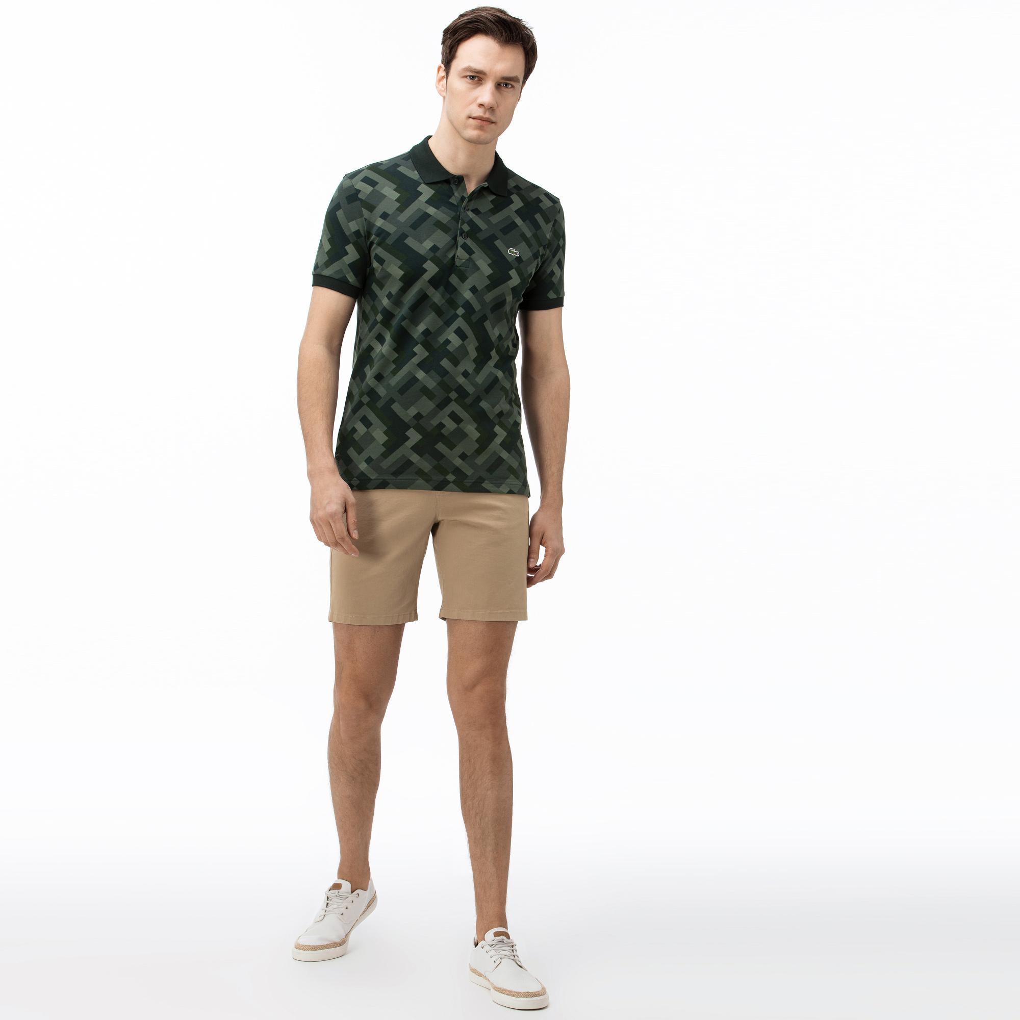 Męskie spodenki bermudy Lacoste w kolorze khaki