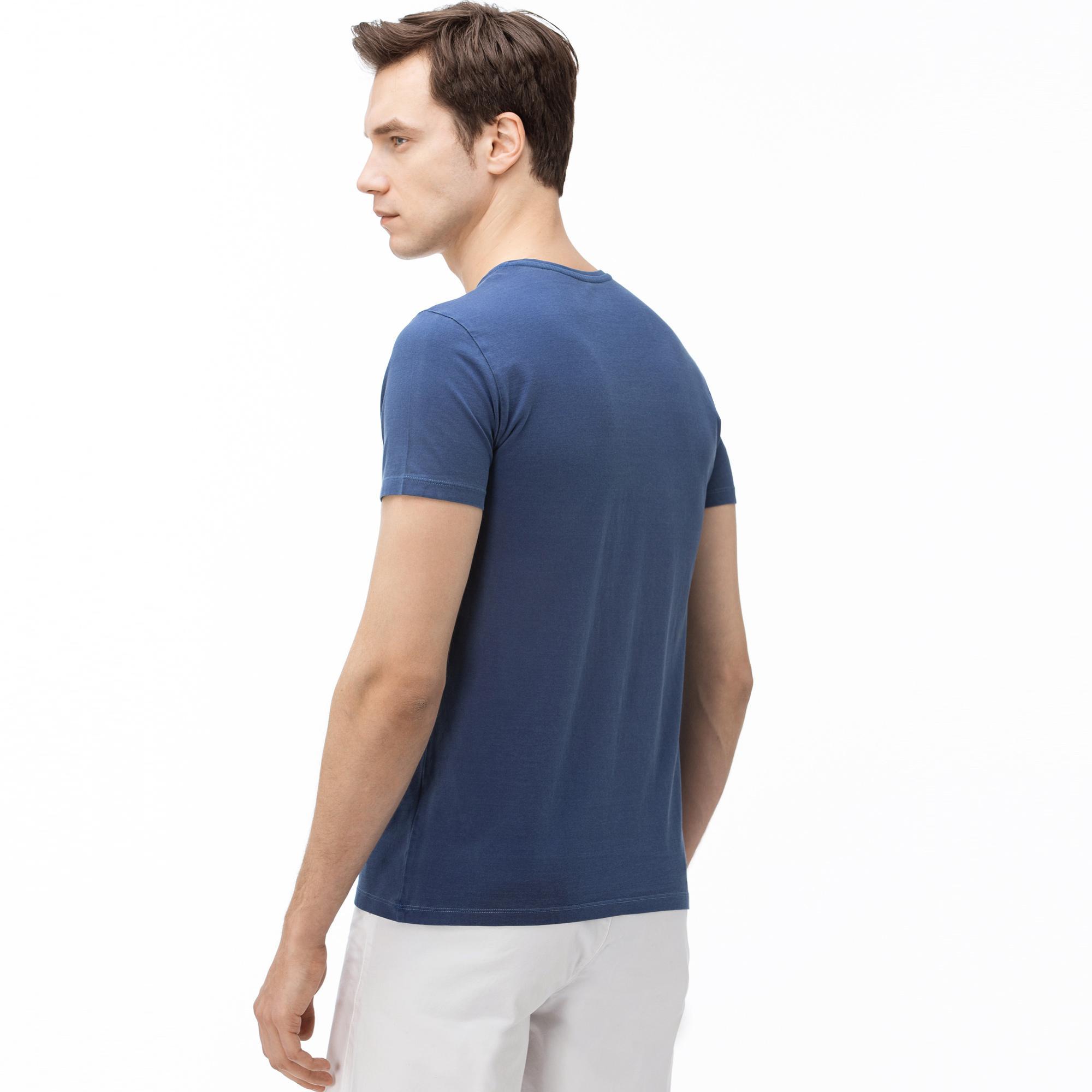 Lacoste T-Shirt Męski Z Dekoltem W Kształcie V