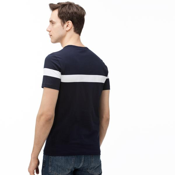 Lacoste Men's Round Neck Striped T-Shirt