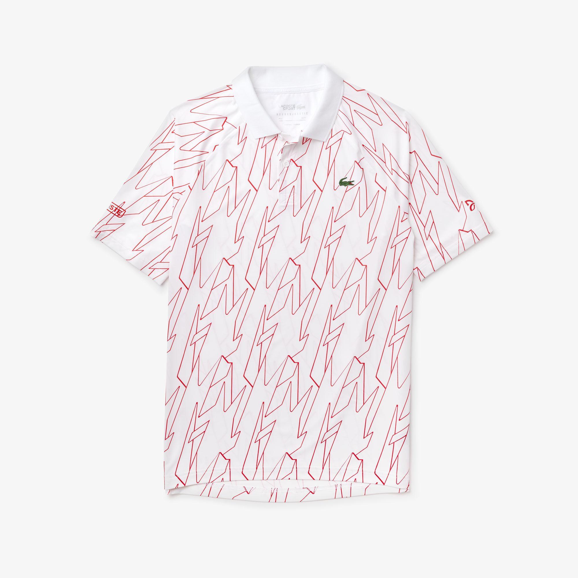 Lacoste Sport Męska Koszulka Polo Z Nadrukiem