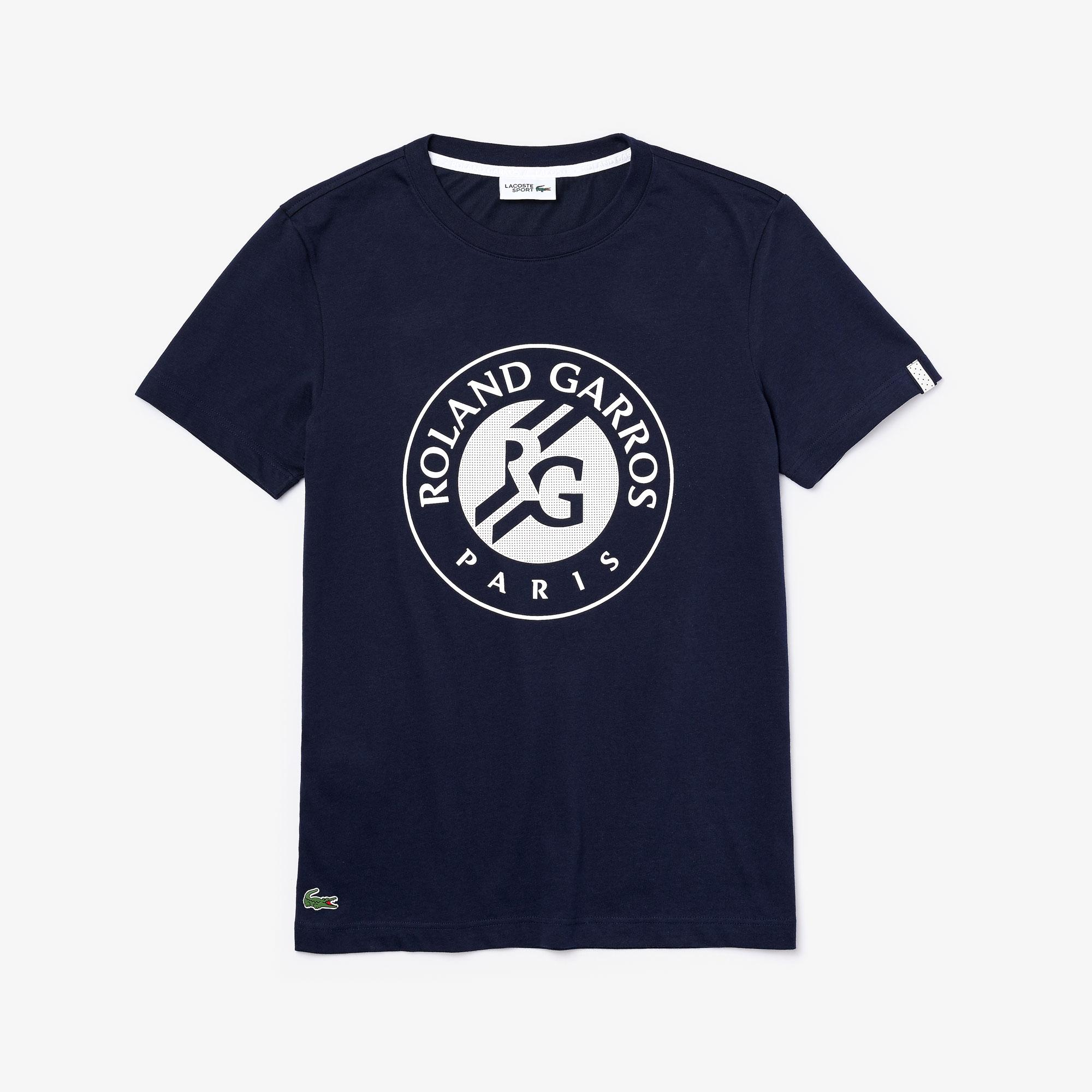 Lacoste Męski Sportowy T-Shirt Z Nadrukiem Logo Roland Garros
