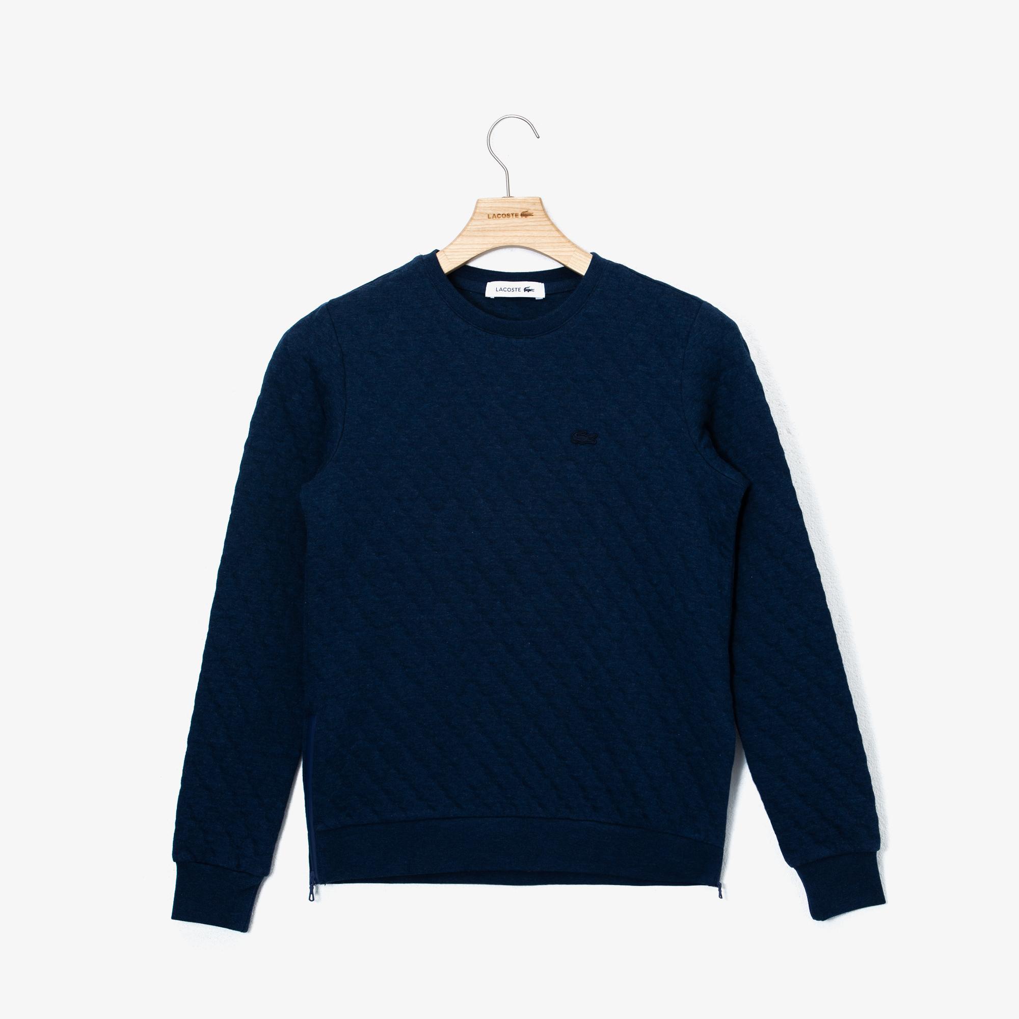 Lacoste Sweter Damski Pikowany Z Okrągłym Wycięciem Pod Szyją