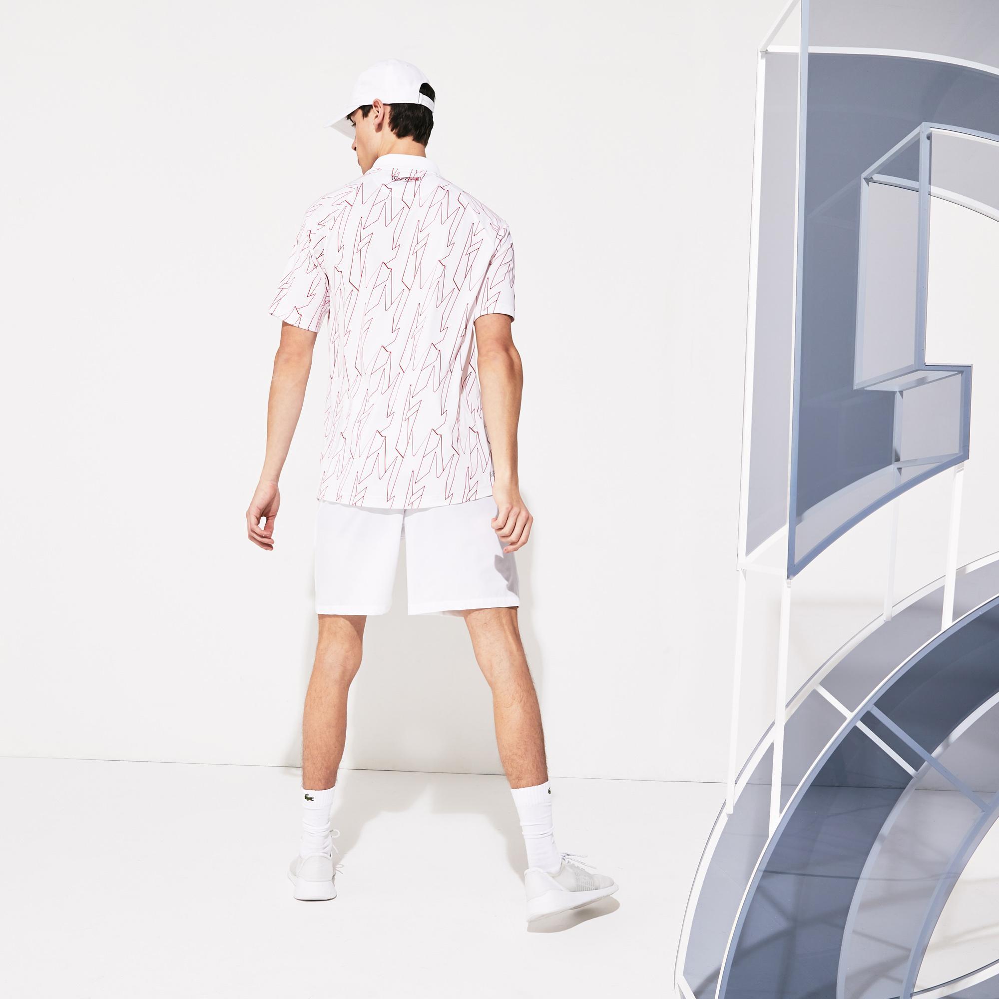 Lacoste Męskie Sportowe Szorty Z Elastycznego Oddychającego Materiału X Novak Djokovic