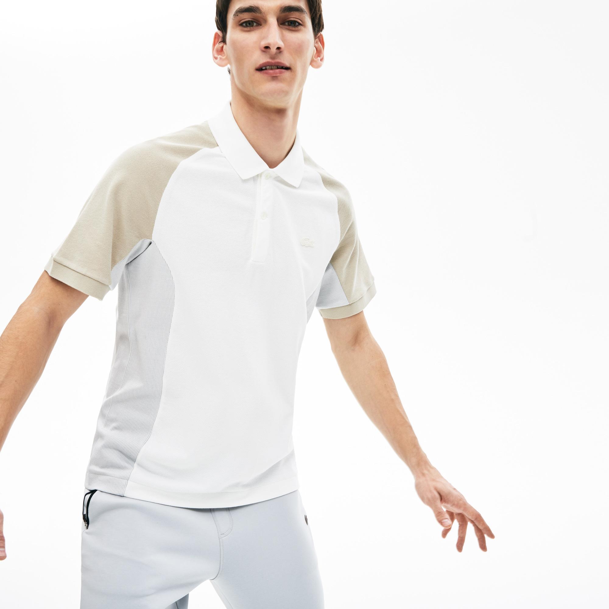 Lacoste Męska Koszulka Polo Z Piki W Bloki Kolorystyczne
