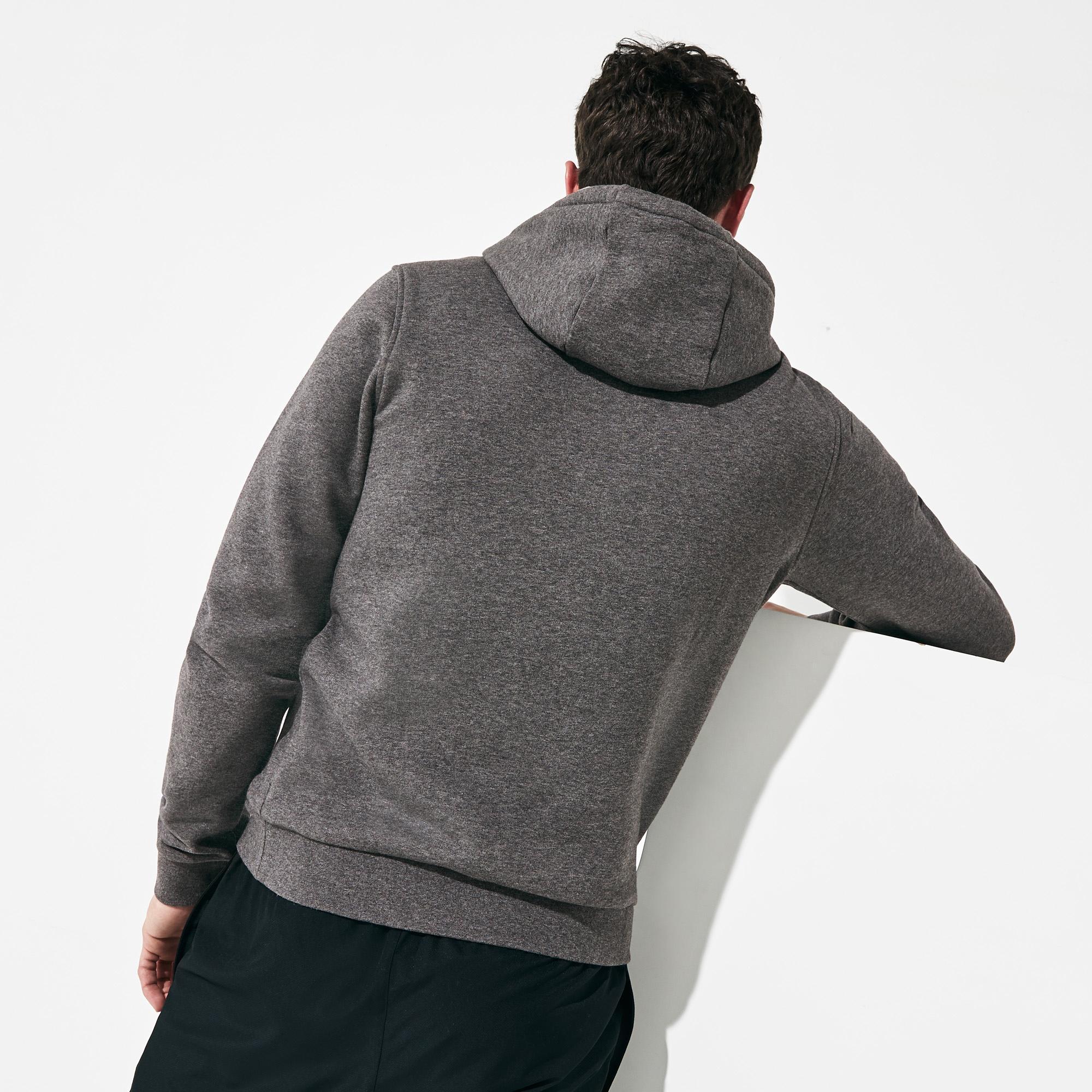 Lacoste Męska Sportowa Bluza Z Kapturem Do Gry W Tenisa Z Polaru