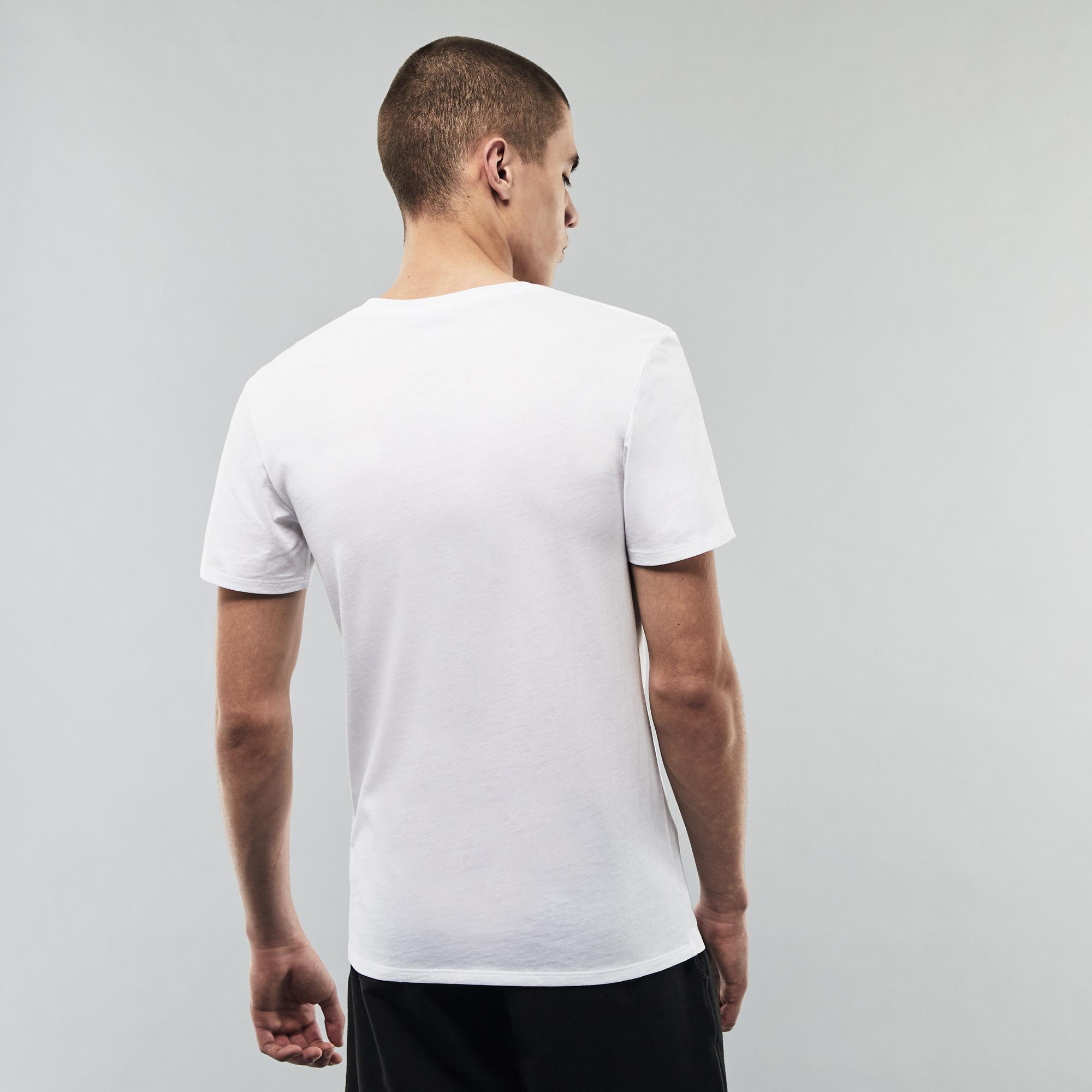 Lacoste Męski T-shirt z dekoltem w kształcie litery V, trójpak