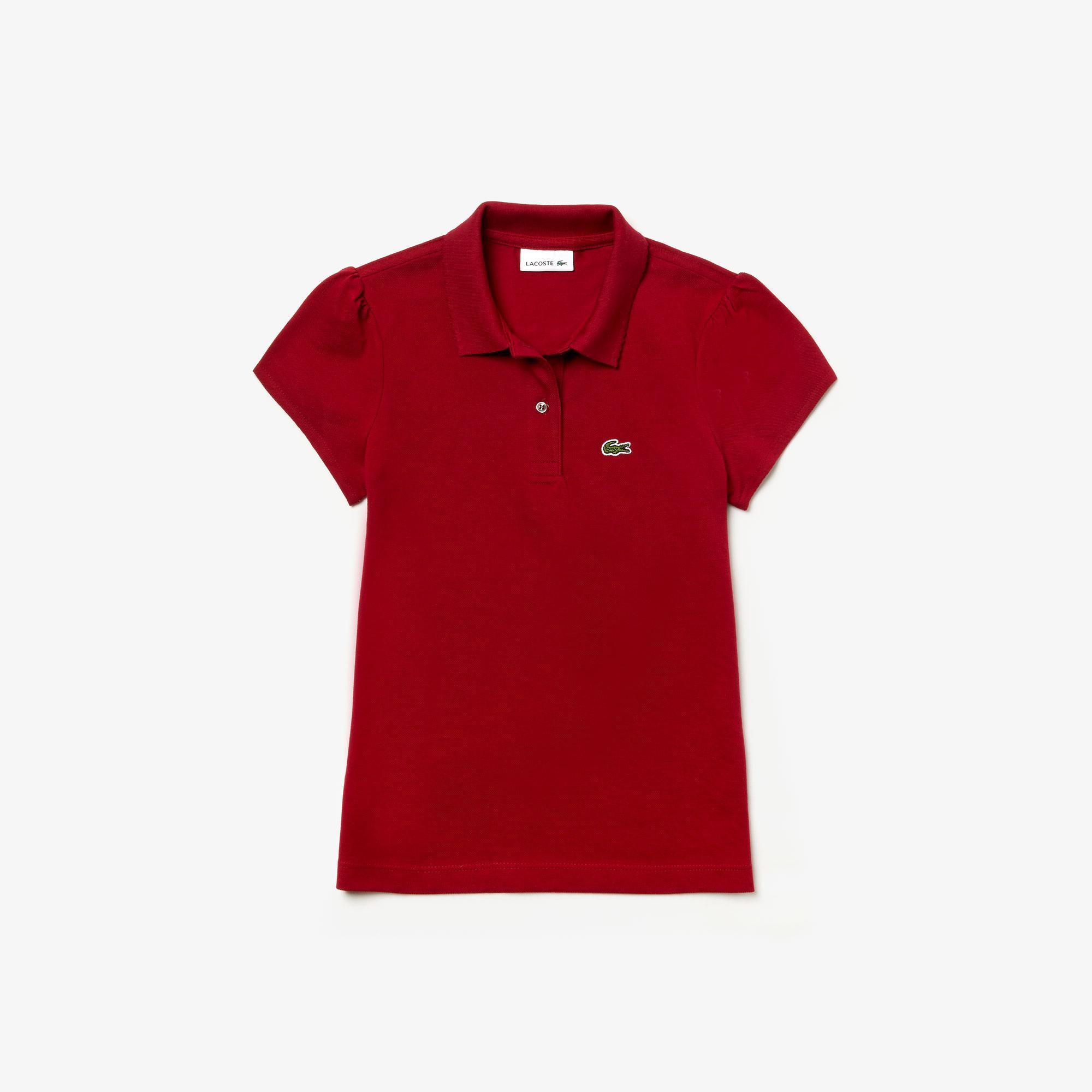 Lacoste Dziewczęca Koszulka Polo Z Mini-Piki Z Półokrągłym Kołnierzykiem