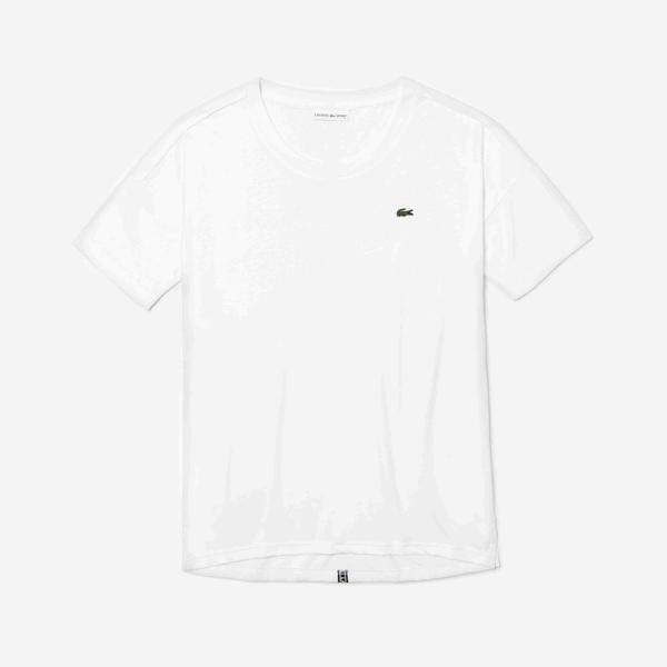 Lacoste Sport Women's Signature Band Loose Flowing Tennis T-Shirt
