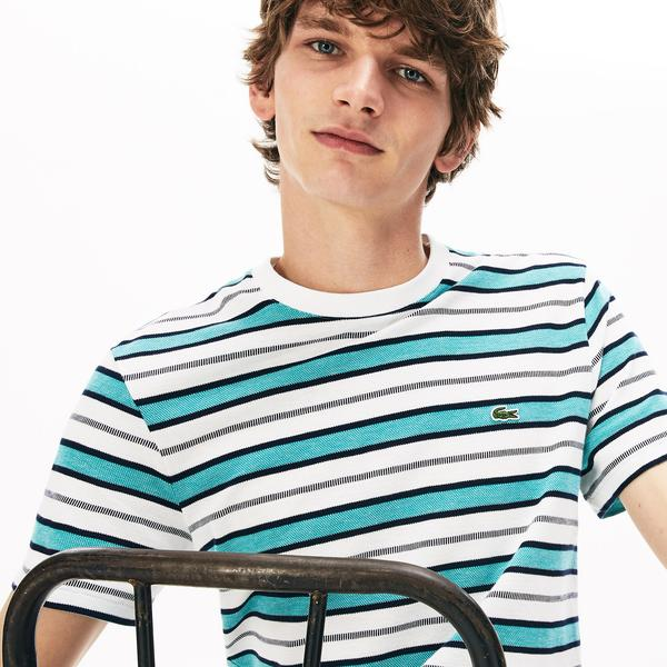Lacoste Men's Striped Crew Neck T-Shirt